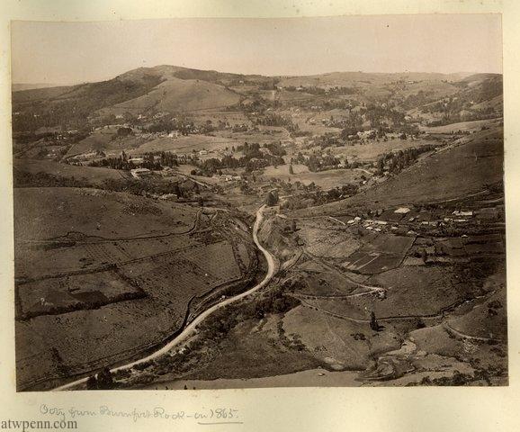 Ooty from Burnfoot rock in 1865