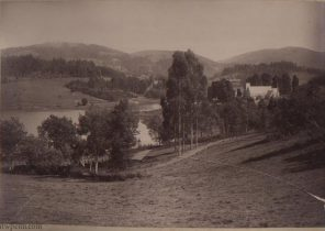 Ooty, St. Thomas church and lake from Burton Cottage
