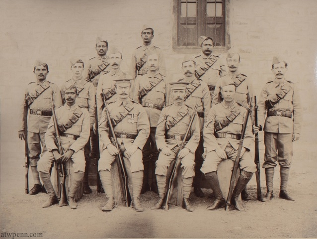 A group of 14 riflemen