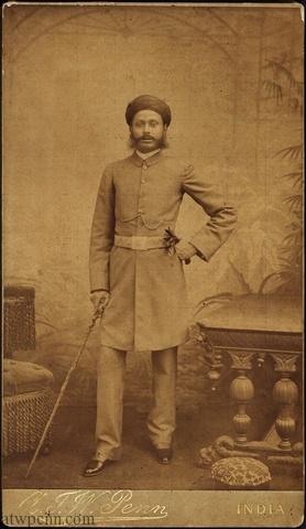 The Nizam of Hyderabad taken in A.T.W. Penn's studio in Ooty